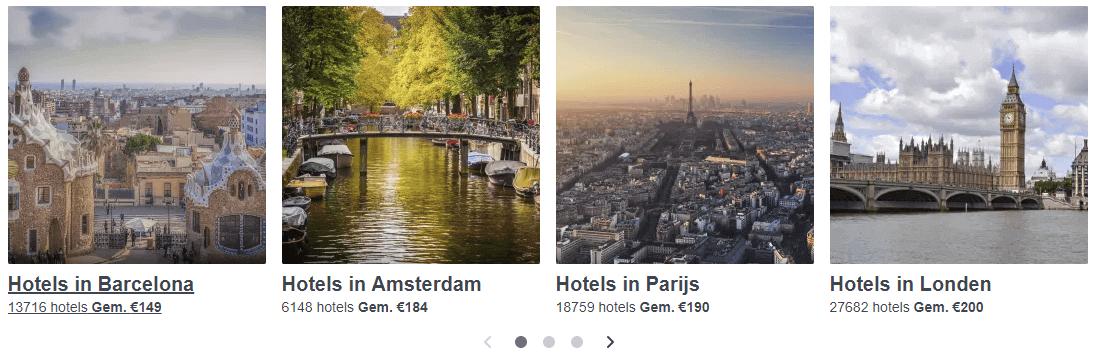 Trivago hotels Barcelona Londen Amsterdam Parijs