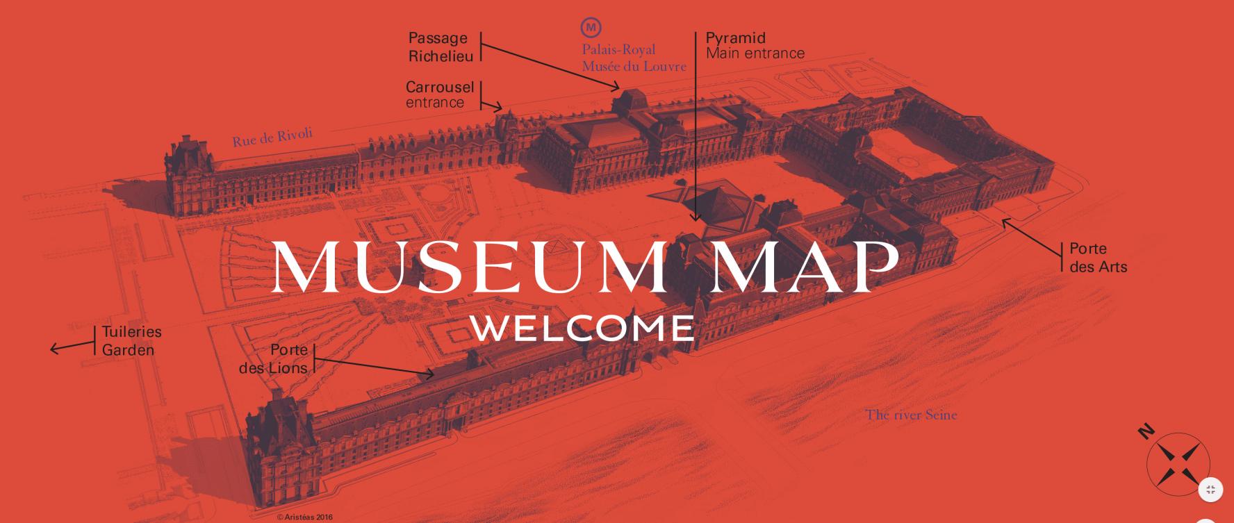 Louvre kaart museum