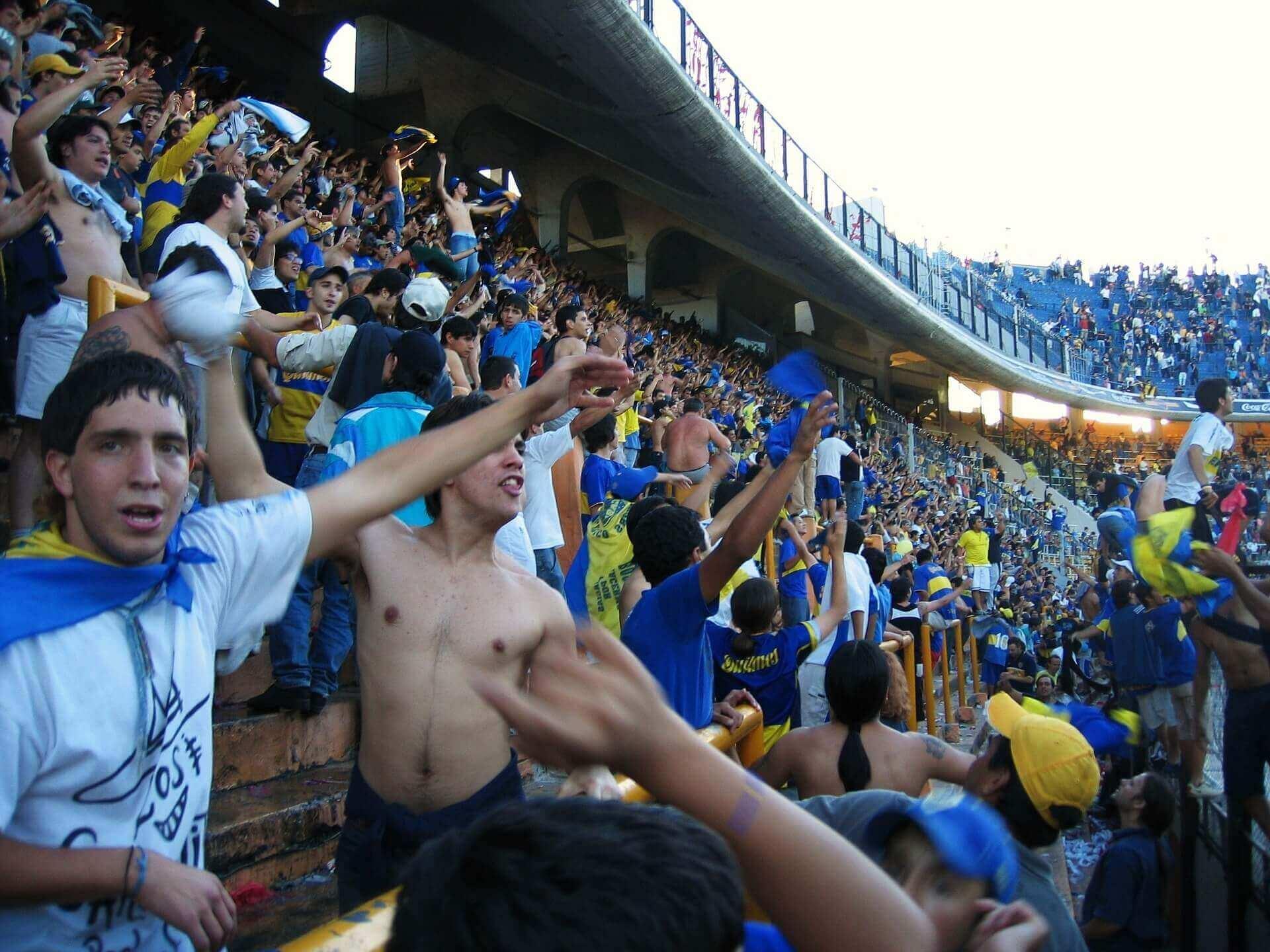 Boca Juniors voetbalmatch - Argentinie - Buenos Aires