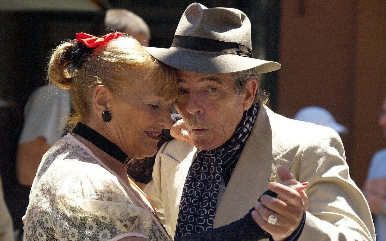 Buenos Aires - Argentinie -Tangodansers op straat