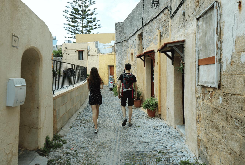 Rhodos wandelingen in de oude stad