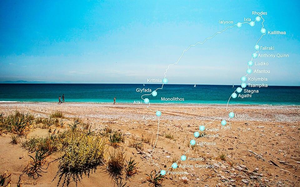 beste stranden rhodos