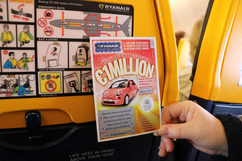 Ryanair loterij 1 miljoen