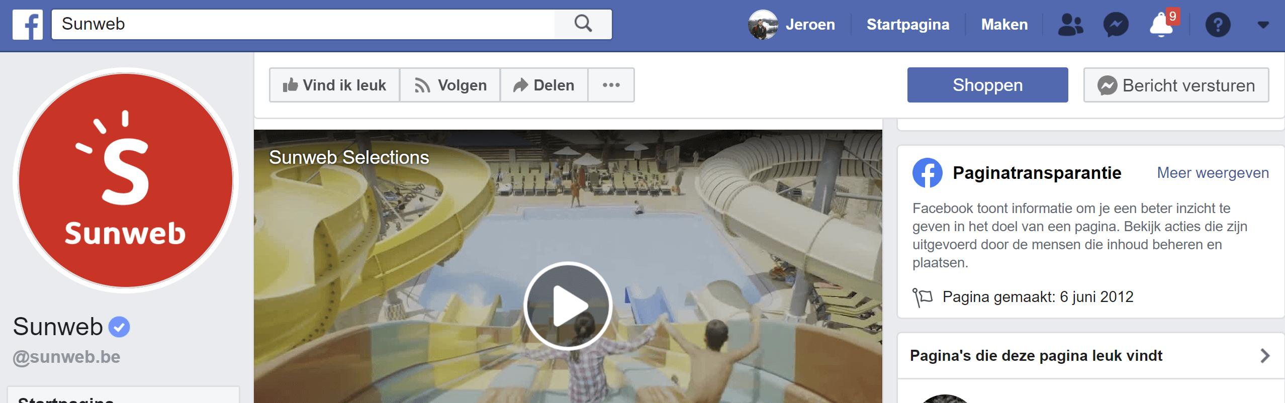 Sunweb Facebook